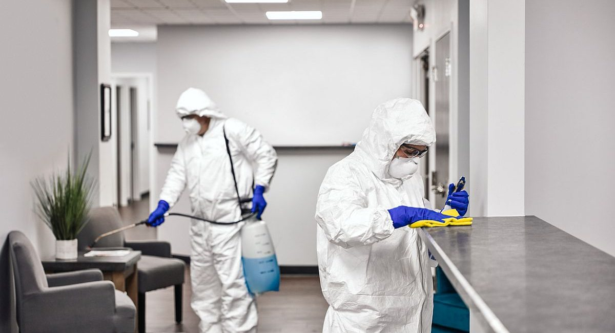 Cleaning And Disinfecting Office